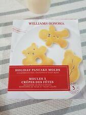 Williams Sonoma Holiday Silicone Pancake Molds GINGERBREADMAN SNOWMAN TEDDYBEAR