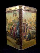 Ancienne boîte à thé ou riz mandarin chine pagode tôle lithographiée 1880/90