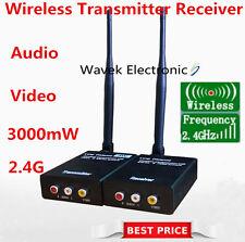 2.4G Wireless AV TV CCTV 3W Sender Camera DVR Audio Video Transmitter Receiver