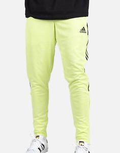 Men's Adidas Semi Frozen Yellow/Black Tiro Track Pants - S