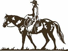 Cowboy Cowgirl Horse Rodeo Equestrian Car Truck Window Vinyl Decal Sticker