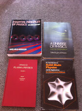 PHYSICS BOOT LOT. PLASMA PHYSICS, SOLID STATE PHYSICS, A UNIVERSE OF PHYSICS,ETC