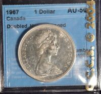 1967 Canada Dollar  -  Graded - CCCS AU50 - Doubled Nose - Cleaned