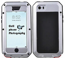 Shockproof Aluminum Gorilla Grass Metal Hard Cover Case For iPhone 5 5S /5C/4 4S