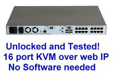 HP 408965-001 410530-001 16 Port Virtual Media KVM over IP switch TESTED 2x1x16