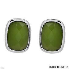 DYRBERG KERN POST EARRINGS SILVER GREEN STONES  $89