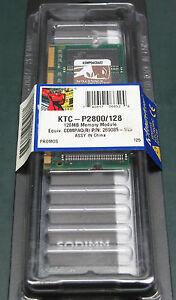 Kingston KTC-P2800/128 (128 MB, DDR RAM, 266 MHz, SO DIMM 200-pin)