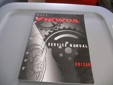 2000 Honda CR125 CR125R Factory Service Repair Shop Manual
