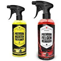 Auto Reiniger SPARSET | Premium Felgen Reiniger 1000ml + Insektenentferner 500ml