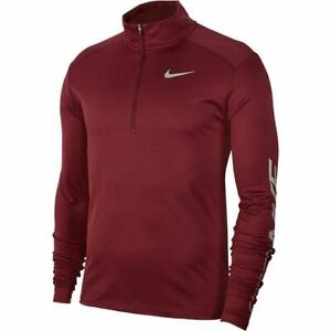 Nike Pacer Long Sleeve Running Shirt Top 1/2 Zip Reflective Team Red Large