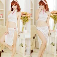 Women's Sexy Lingerie Underwear Uniform Cosplay Cheongsam Sleepwear + G-string