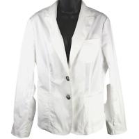 NWT $295 Anne Klein White Button Front Jacket Women's Size 12