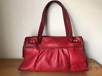 SIGRID OLSEN Dark red leather Satchel handbag