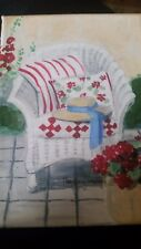 "Mary Kay Crowley ""Chair in Garden"" 5x7"