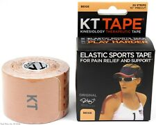 KT Tape Therapeutic Elastic Body Sports Tape Roll of 20 Strips - Cotton - Beige