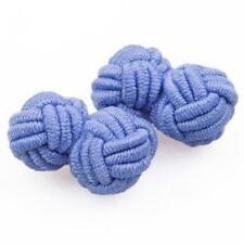 Plain Knot Cufflinks- light-blue