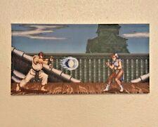 Street Fighter II Super Nintendo Scene Canvas Print - 90s Retro Video Game Art