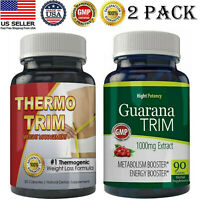 Thermogenic Fat burner Pills Guarana Extract Weight Loss Capsules Free Shipping
