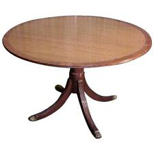 Rare George III Satinwood With Burl Border Round Breakfast Dining Table 19th C