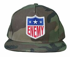Another Enemy Football League EFL Green Camo Camouflage Snapback Baseball Hat NW