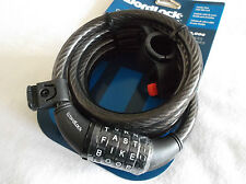 "WORDLOCK 6 ""X.5"" 1828mm x 12 mm NERO FLESSIBILE IN ACCIAIO cavo Bike Lock Heavy Duty!"