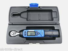 """LOW RANGE DIGITAL TORQUE WRENCH 1/4"""" DRIVE 6-30Nm 4.4-22.1 ft-lbs Calibrated"""