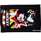 Disney Mickey Mouse Authentic Licensed Canvas Trifold Black Wallet for Children