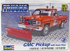 GMC Pickup Truck with Snow Plow Revell 85-7222 1/24 Plastic Model Kit