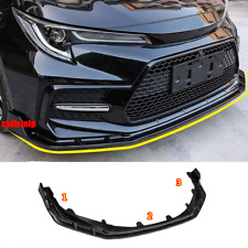 For 2020-21 Toyota Corolla SE XSE Bright black Front Bumper Lip Body Spoiler 3PC