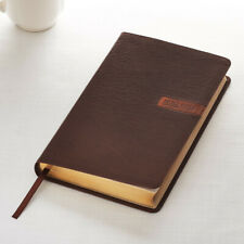 KJV Bible Matte Brown Faux Leather Gift Edition Deluxe
