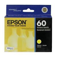 Epson 60 T0604 Yellow Ink Cartridge T060420 Genuine New