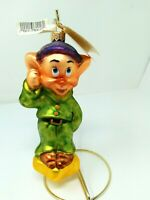 DOPEY Radko Disney Vintage 1997 Snow White and the Seven Dwarfs Ornament w/Box