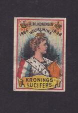 Ancienne   étiquette   allumettes Hollande   BN34108 Reine Wilhelmina