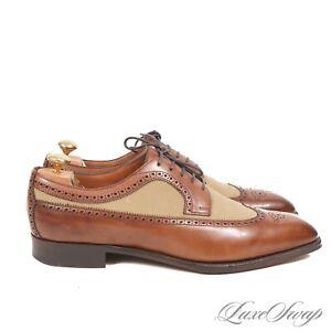 #1 MENSWEAR Ralph Lauren Purple Label England Edward Green 888 Wingtp Shoes 10.5