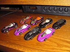 Rare LOT of 9 Vintage Hot wheels Silhouette II Roadster Road Race Cars