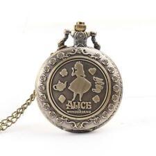 Alice im Wunderland Taschenuhr Halskette Film Uhr Grinsekatze Sammler Kette Deko