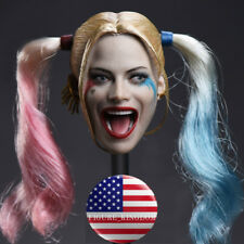 """1/6 Harley Quinn Head Sculpt Suicide Squad For 12"""" PHICEN Hot Toys Figure USA"""