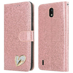 For NOKIA 1.3 Case Leather Bling Glitter Flip Wallet Cover for Nokia 1.3 Phone