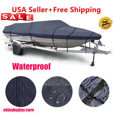17 -19ft Trailerable Boat Cover Waterproof Heavy Duty Fishing Ski Bass V-hull SW
