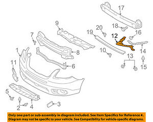 SUBARU OEM 08-14 Tribeca Front Bumper-Bumper Bracket Right 57707XA12A