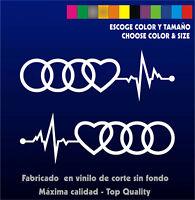 Sticker Vinilo CARDIOAudi - Coche- Pegatina Vinyl Car - Cardio Audi
