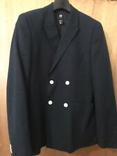 H&M Double Breasted Navy Blazer Casual Size 36