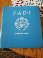 New listing Vintage Collectors PADI Scuba Diving Instructor Manual 1977