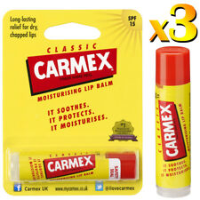 3x Carmex Classic Original Click Palo Ultra Moisturising Dry & Chapped Lip Balm