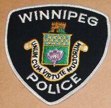 WINNIPEG POLICE Canada Canadian PD patch #1