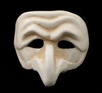 Maschera Di Venezia Polichinelle Bianco Antico Carta Mache Carnevale Ballo 1826
