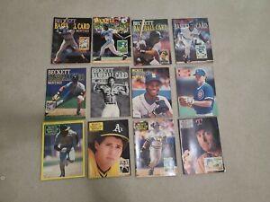 Beckett Baseball Card Monthly 1990 Complete Year Set.