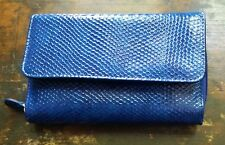 MUNDI NAVY BLUE TRIFOLD WALLET ALL AROUND ZIPPER, LOTS OF DIFFERENT COMPORTMENTS