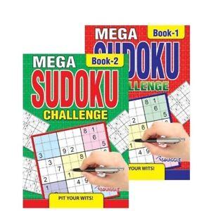 Mega Sudoku Challenge Brain Puzzle Games-236 Puzzles each Book - A5 Books 1 & 2