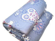 Pottery Barn Kids Blue Multi Colors Chelsea Bloom Pink Polka Dot Twin Quilt New